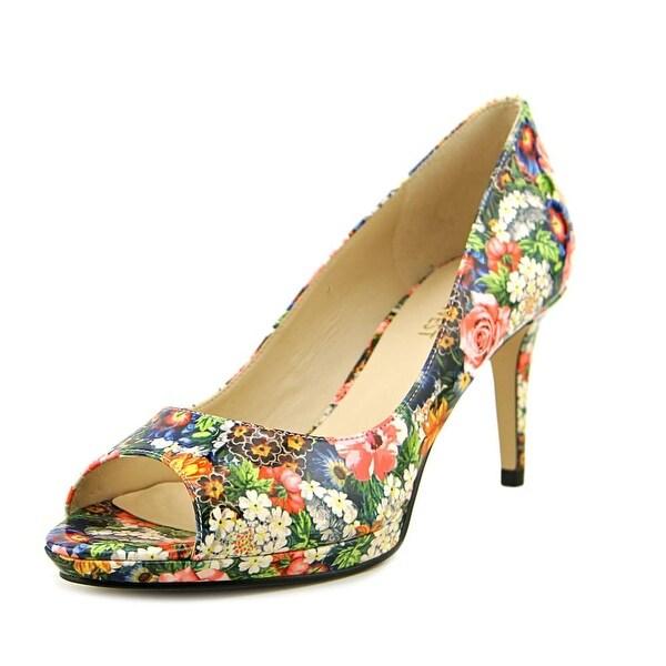 Nine West Gelabelle Women Peep-Toe Synthetic Heels
