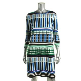 Eliza J Womens Printed 3/4 Sleeve Wear to Work Dress - 12