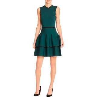 Parker Womens Ryker Casual Dress Contrast Trim A-Line