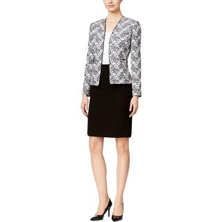 Tahari ASL Womens Skirt Suit 2PC Printed - 10