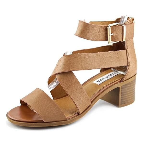 Steve Madden Raeleen Women Open Toe Leather Brown Gladiator Sandal