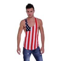 Men's USA Flag Open Side Sleeveless Shirt Stars & Stripes Pride