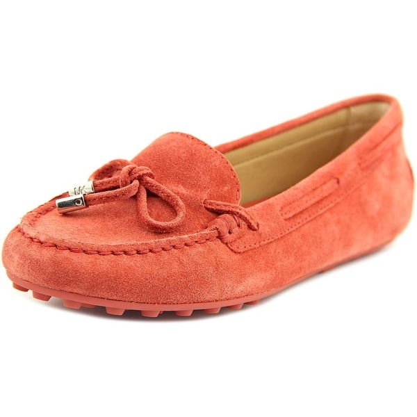 Michael Michael Kors Daisy Moc Women Moc Toe Suede Red Loafer