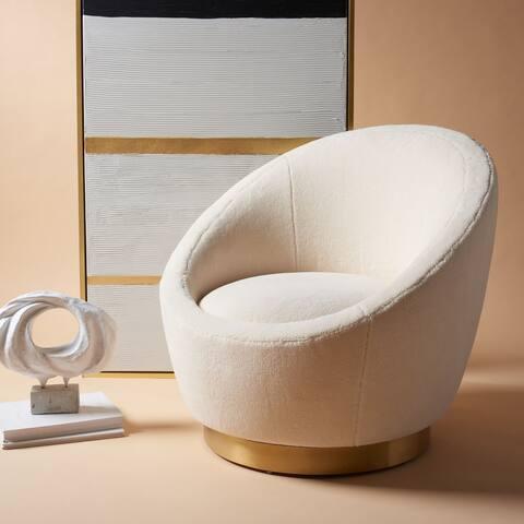 "Safavieh Couture Pippa Swivel Chair - 32"" W x 32"" L x 31.7"" H"