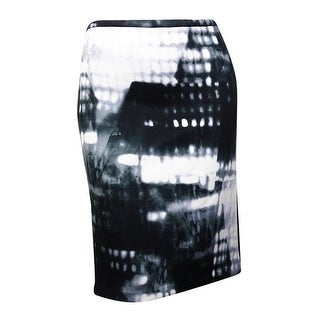 Calvin Klein Women's Printed Scuba Pencil Skirt (XL, Black Multi) - Black Multi - XL