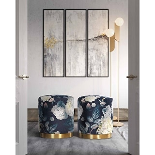 Link to Opal Floral Velvet Ottoman Similar Items in Living Room Furniture
