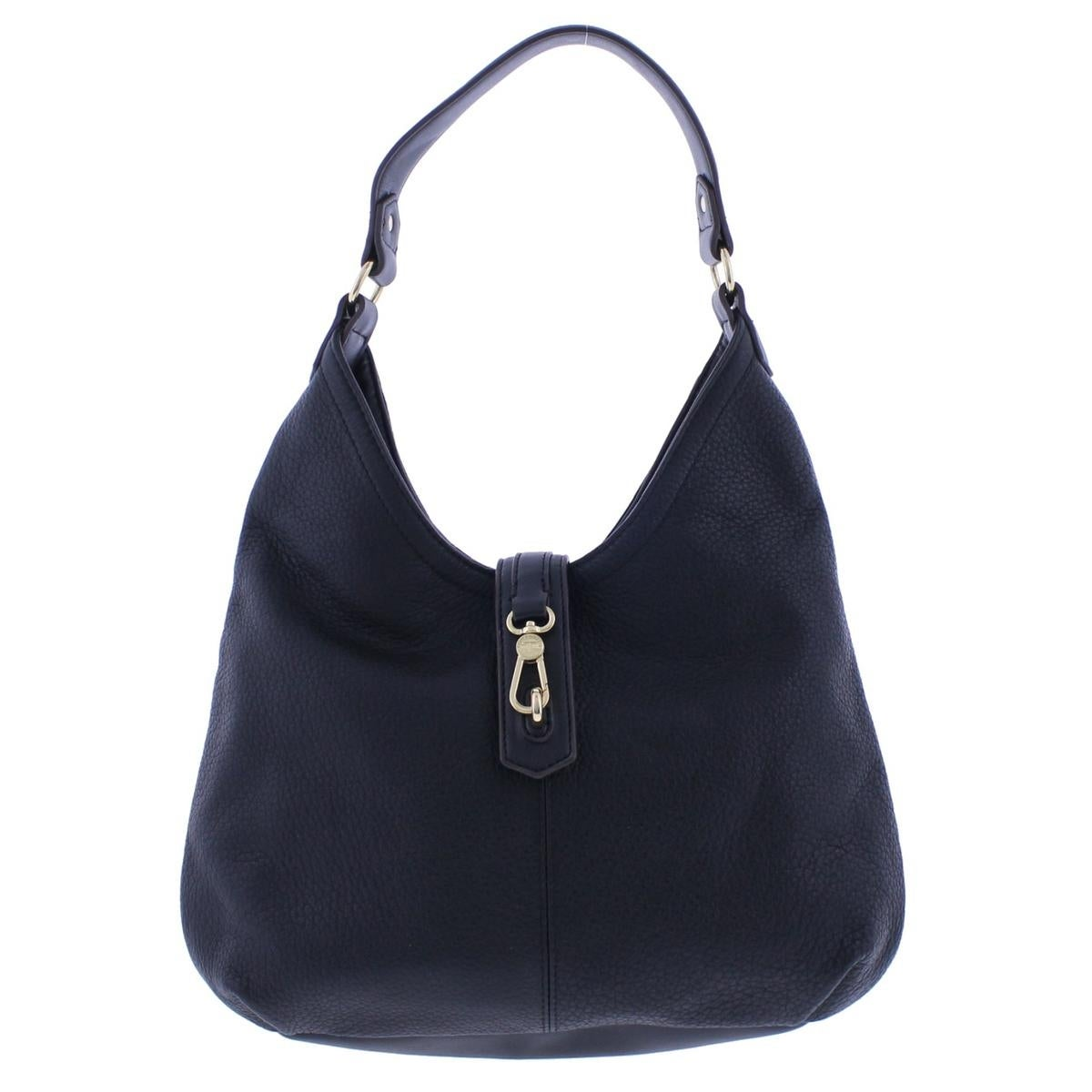 Tignanello Womens Hobo Handbag Leather Pebbled Large