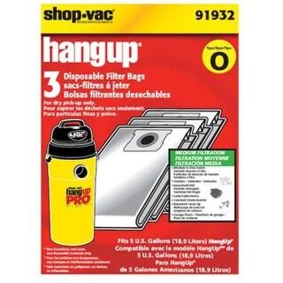 Shop-Vac 919-32-00 Hang-Up Disposable Filter Bag, 5 Gallon