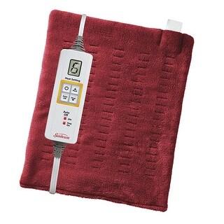 Sunbeam 2014-915-001 XpressHeat Heating Pad Garnet Red