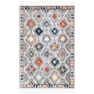 Safavieh Morocco Bohemian & Eclectic Tribal Grey/Multi Polyester Rug