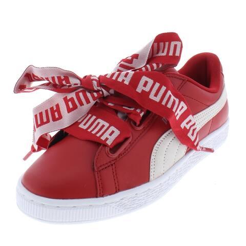 Puma Womens Basket Heart DE Sneakers Leather Skate