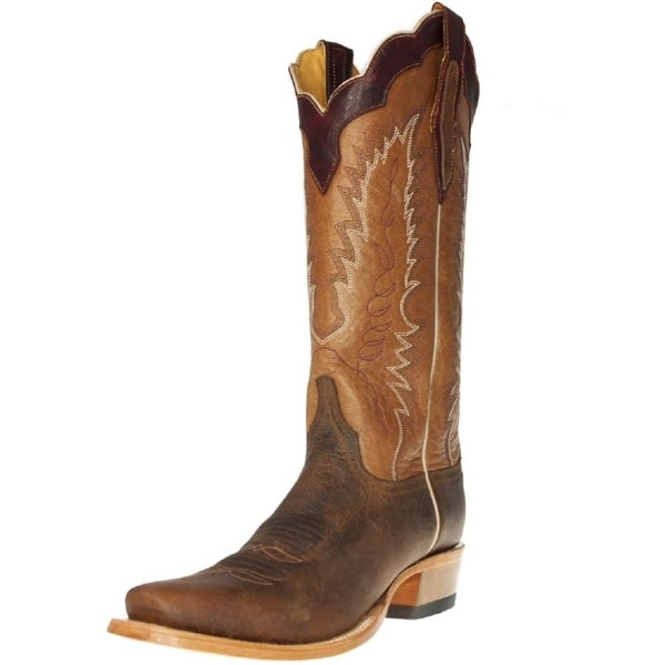 Cinch Western Boots Mens Cowboy Channel Leather JW Toe Brown