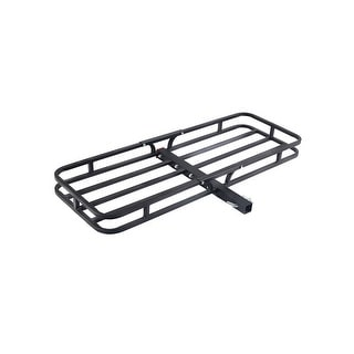 Costway 500LBS Steel Cargo Carrier Luggage Basket 2'' Receiver Hitch