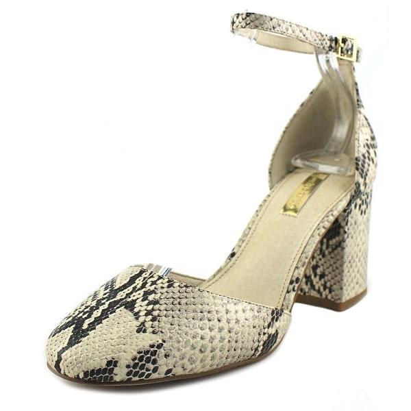 Louise et Cie Idina Women Round Toe Leather Ivory Heels