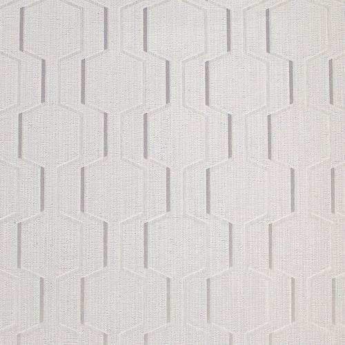Brewster 2603-20927 Harrison Grey Rectangular Geo Wallpaper