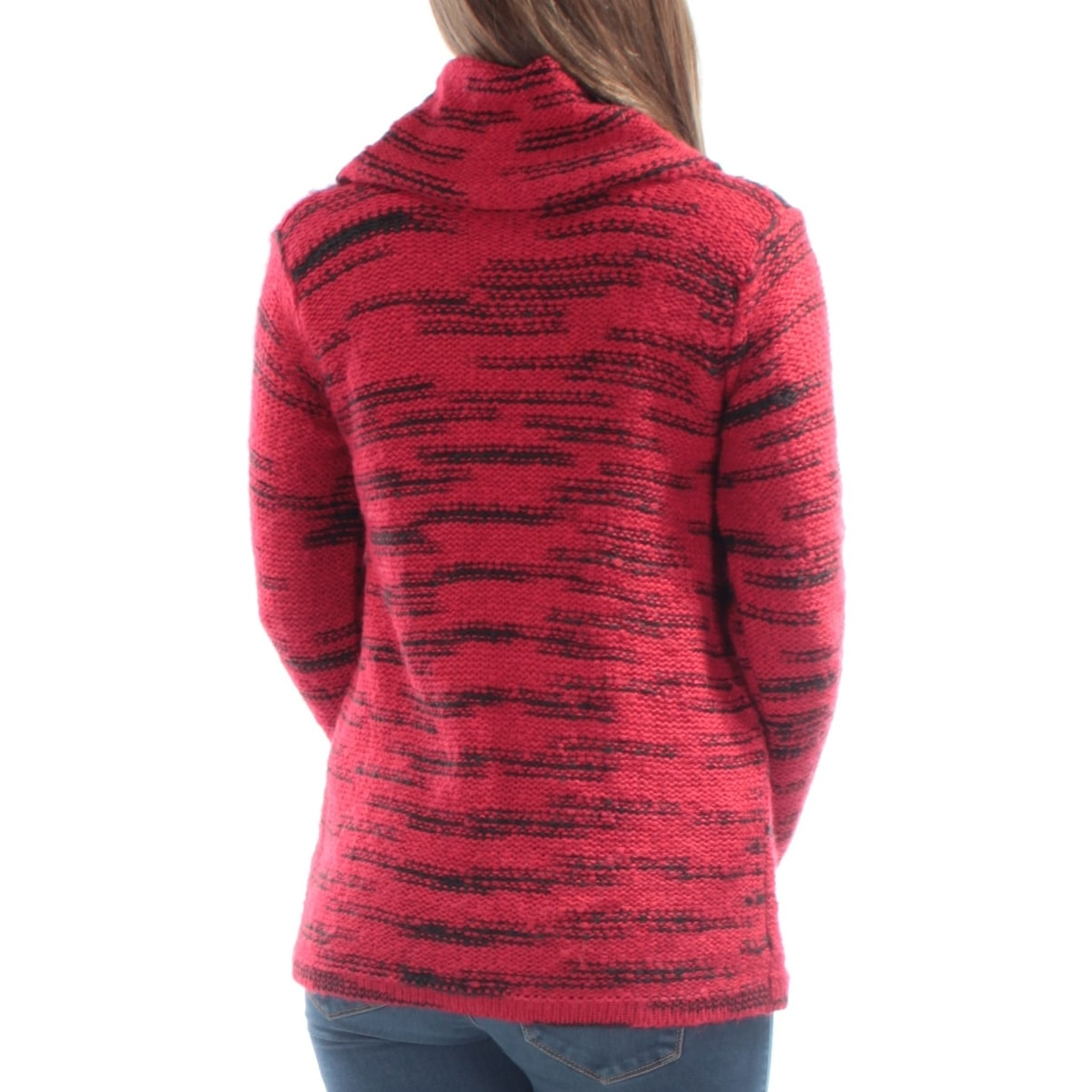 1c1e0036dd Shop KENSIE Womens Red Sheer Knitted Long Sleeve Cowl Neck Sweater Size  S  - Free Shipping On Orders Over  45 - Overstock - 21215451