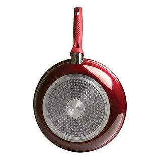 """Ecolution Bliss Ebcaw-5128 Non-Stick Ceramic Fry Pan Cookware, 11"""", Candy Apple Red"""