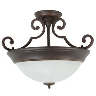 Craftmade X224 2 Light Semi Flush Ceiling Fixture