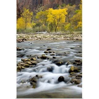 """""""Autumn along the Virgin River in Zion Canyon, Zion National Park, Utah"""" Poster Print"""
