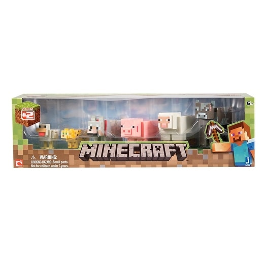 "Minecraft 2.5"" Action Figure 6-Pack: Core Animals"