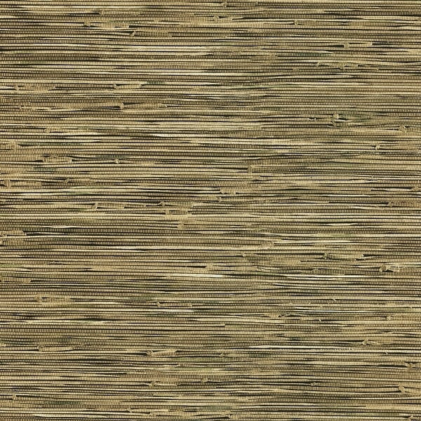 Brewster 412-44141 Lepeka Dark Green Grasscloth Wallpaper - N/A