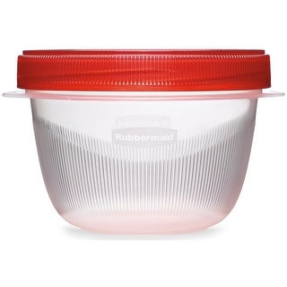 Rubbermaid 7J0000TCHIL Twist and Seal Containers, 2 Cup Capacity
