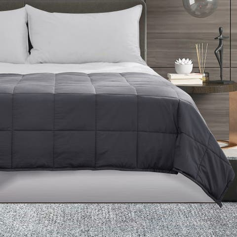 """Puredown Full/Queen Size 60"""" X 80"""" 20 lbs Grey Weighted Blanket"""