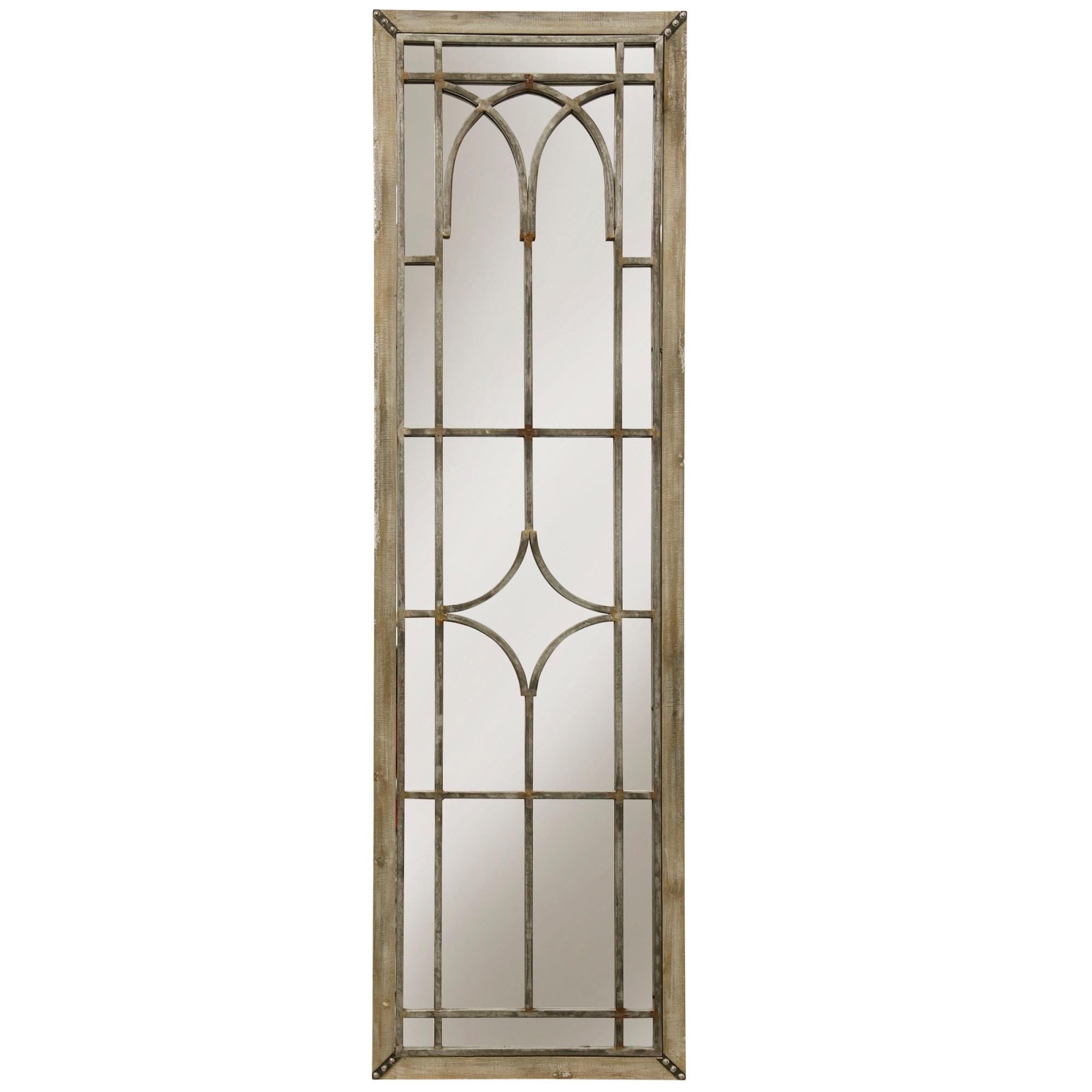 StyleCraft SC-WI52416  20 x 70 Rectangular Flat Wood Framed Wall Mounted Decorative Panel Mirror - Natural Wood