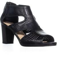Bella Vita Leslie Perforated Gladiator Heels, Black