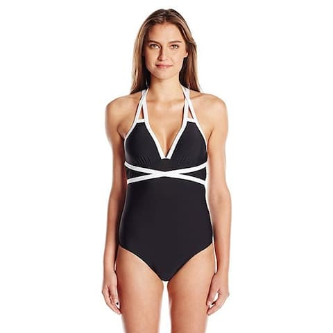ATHENA Women's Moroccan Block Mirelle Removable Soft Cup One Piece SZ: XS