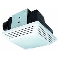 Air King BFQL50 50 CFM 0.8 Sone Ceiling Mounted Energy Star Rated Exhaust Fan with Snap-In Installation and LED Light
