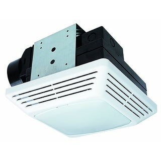 Air King BFQL70 70 CFM 2.0 Sone Ceiling Mounted Energy Star Rated Exhaust Fan with Snap-In Installation and LED Light
