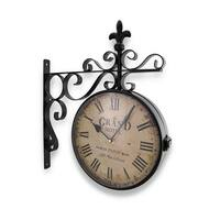 Grand Hotel Paris Double Sided Wall Mounted Clock - 15.5 X 14 X 3 inches