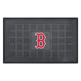 MLB Boston Red Sox 3-D Team Medallion Vinyl Door Mat