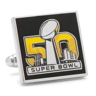 Super Bowl 50 Commemorative Cufflinks - Multicolored