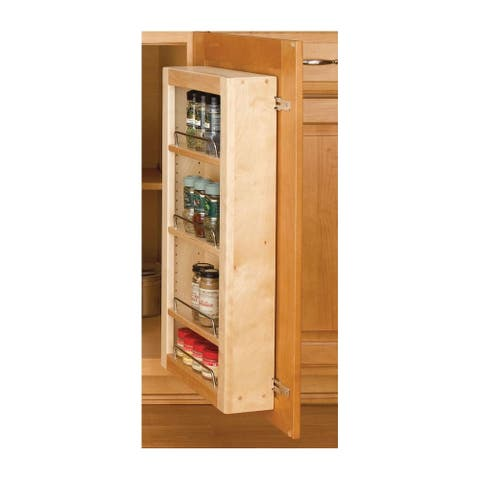 "Rev-A-Shelf 4WBDP18-25 4WP Series 25"" Door Unit Single Base Pantry with Hardware - Natural Wood"