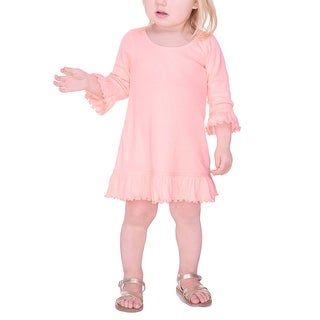 Kavio! Infants Girls Ruffled 3/4 Sleeve A-Line Dress