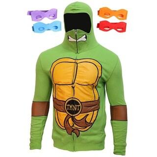 Teenage Mutant Ninja Turtles Men's Full Zip Costume Hoodie with Masks