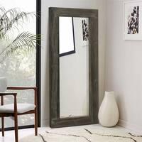 Rustic Wood Rectangular Freestanding/Full-Length/Floor Mirror Living Room - 58''x24''