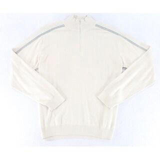 Calvin Klein Jeans NEW Beige Mens Size XL Pullover 1/2 Zip Sweater