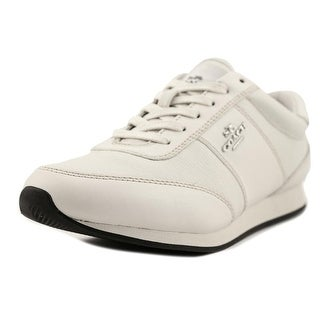 Coach Raylen Round Toe Leather Sneakers