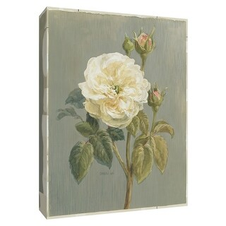 """PTM Images 9-154579  PTM Canvas Collection 10"""" x 8"""" - """"Heirloom White Rose"""" Giclee Roses Art Print on Canvas"""