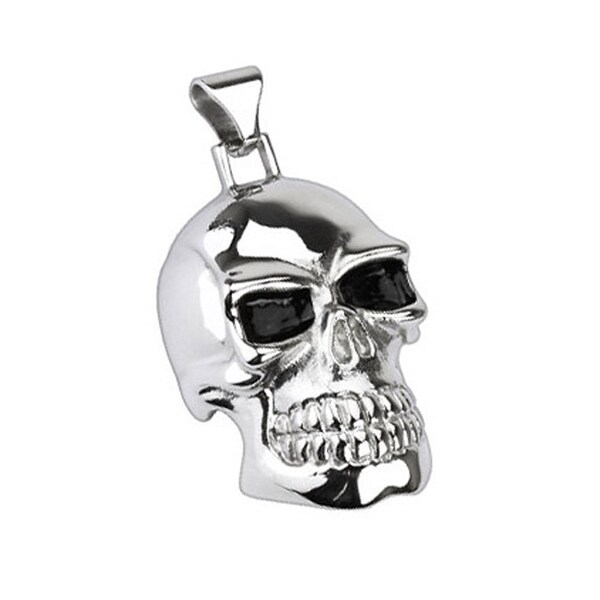 Stainless Steel X-Large Death Skull Pendant (35 mm Width)