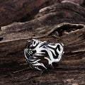 Vienna Jewelry Stainless Steel Abstract Flames Ring - Thumbnail 1