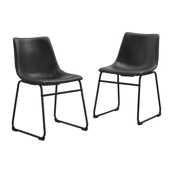 Terrific Shop Offex Modern Faux Leather Dining Kitchen Chair Set Of Bralicious Painted Fabric Chair Ideas Braliciousco