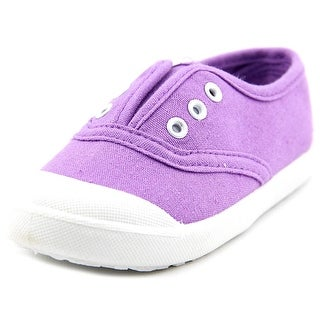 Attraction Fuxia Toddler Round Toe Canvas Purple Tennis Shoe