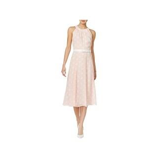 Tommy Hilfiger Womens Wear to Work Dress Polka Dot Sleeveless