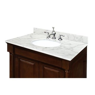 "Sagehill Designs OW3122CW 31"" Carrara White Marble Vanity Top with 4"" Backsplash - Sink Included"