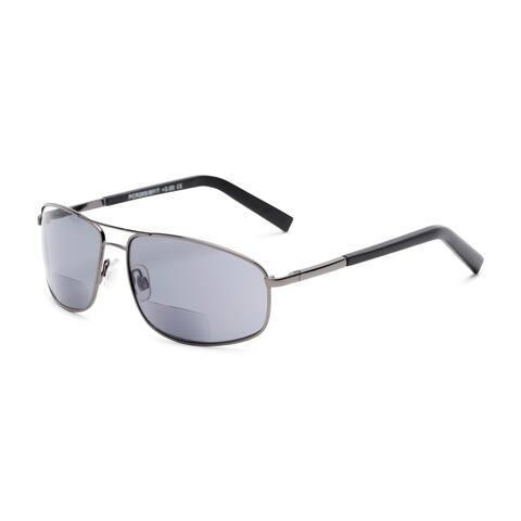 Readers.com The Albany Bifocal Reading Sunglasses Aviator Reading Glasses