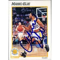 Signed Eli Mario Golden State Warriors 1991 NBA Hoops Basketball Card autographed
